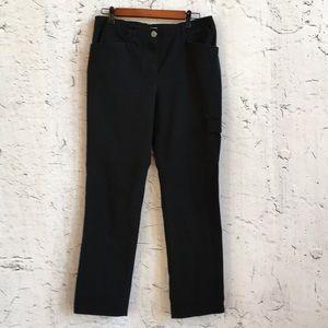 CHICO'S BLACK CARGO PANTS 0.5 SHORT